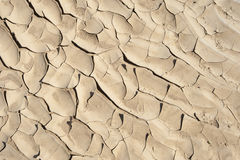 Cracked sandy desert ground background Royalty Free Stock Images