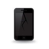Cracked Smart Phone Royalty Free Stock Photography