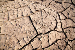Cracked soil. The Brown cracked soil ground Royalty Free Stock Photo