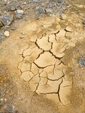 Cracked soil as a result of drought Royalty Free Stock Image