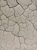 Cracked soil,cracked ground in mine site royalty free stock photography