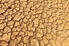 Cracked soil on desert Royalty Free Stock Photo