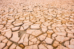 Cracked soil during drought Stock Photo