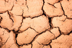 Cracked soil during the dry season background Royalty Free Stock Images