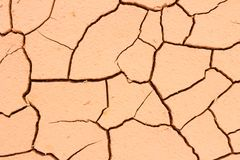Cracked soil ground, drought land so long waterless, close-up Royalty Free Stock Photo