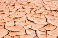 Cracked soil ground, drought land so long waterless, close-up Stock Image
