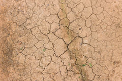 Cracked soil ground Stock Images