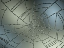 Cracked and Splitted glass with gradient light Royalty Free Stock Photography