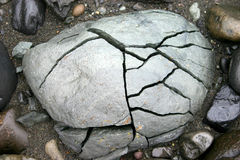 Cracked Stone Stock Images