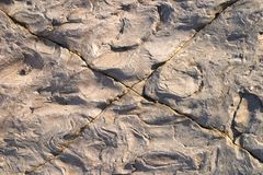 Cracked stone texture Stock Images