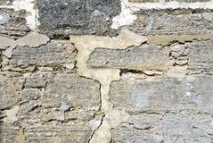 Cracked stone wall Royalty Free Stock Photo