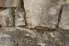 Cracked stone wall gray hard substrate background foundation weathered geological design texture stock photo