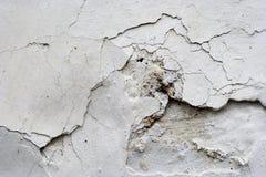 Cracked stucco - grunge background Stock Photo