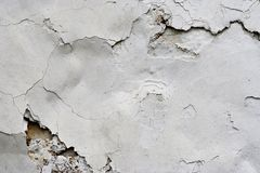Cracked Stucco - Grunge Background Royalty Free Stock Image