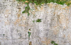 Cracked stucco wall. Close-up of cracked, flaky stucco wall Royalty Free Stock Photo