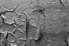 Cracked surface of black wall Stock Image