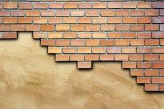 Cracked surface of brick wall Royalty Free Stock Photos