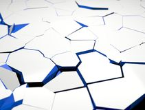 Cracked surface. 3d illustration Royalty Free Stock Photo