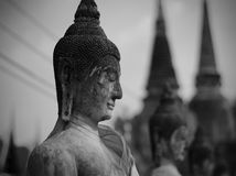 Cracked surface of old Buddha statue Royalty Free Stock Photos