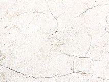 Cracked surface of rough plaster Stock Photography