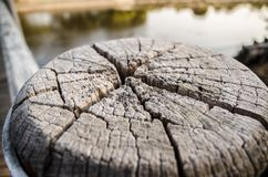 Cracked surface of wood in abstract patterns for background. A Cracked surface of wood in abstract patterns for background royalty free stock photo