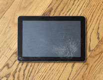 Cracked tablet Royalty Free Stock Photography