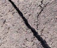 Cracked tarmac Stock Photo