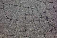 Cracked tarmac road surface Stock Image