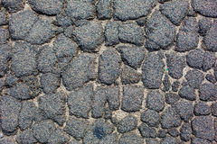 Cracked tarmac road surface Stock Photography