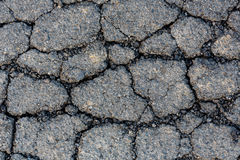 Cracked tarmac surface Royalty Free Stock Photo