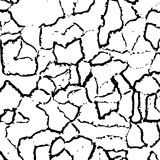 Cracked texture of wall, vector Stock Images