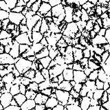 Vector cracked texture of wall or earth Royalty Free Stock Photography