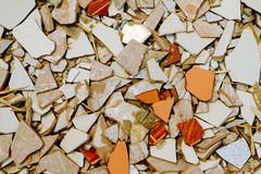 Cracked tiles Stock Image