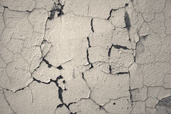 Cracked toned concrete wall Royalty Free Stock Photo