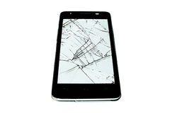 Cracked touch screen Royalty Free Stock Photo