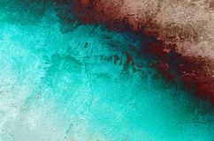 Cracked turquoise wall background. Stock Images