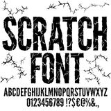 Cracked Vector Font Royalty Free Stock Photography