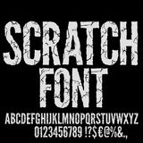 Cracked Vector Font Stock Photography