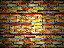 Cracked vintage brick wall Royalty Free Stock Photos