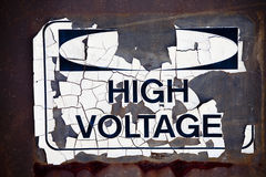 Cracked voltage sign Royalty Free Stock Images