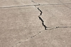 Cracked Walkway. A Large crack in concrete pathway Royalty Free Stock Image