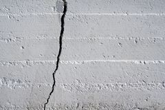 Cracked Wall. Large Crack in Brick Wall Royalty Free Stock Photo