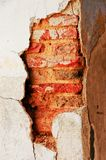 The Cracked Wall. The wall is going on royalty free stock images