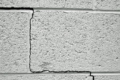 Cracked wall Stock Image