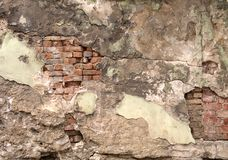 Cracked wall. Detail royalty free stock images