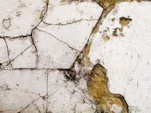 Cracked wall. Detail Stock Photography