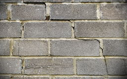 Cracked Wall Background. View of an Old Cracked Wall Royalty Free Stock Photo