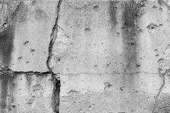 Cracked wall with bullet holes Royalty Free Stock Photography