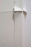 Cracked wall corner. Cracked outside drywall corner in a house caused by settling Royalty Free Stock Photo
