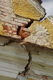Cracked wall house Stock Images